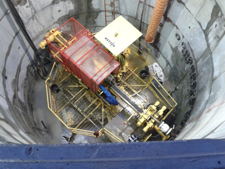 Grouting a Crossrail access shaft