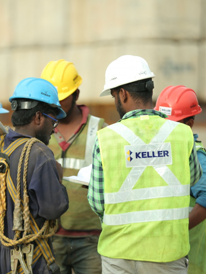 Keller India employees on site