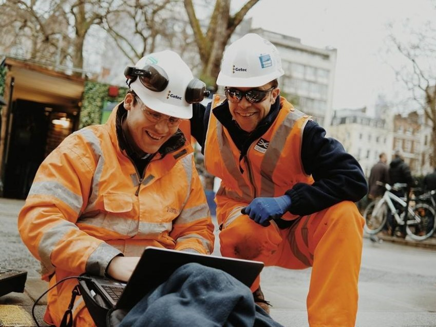Getec engineers on site in UK