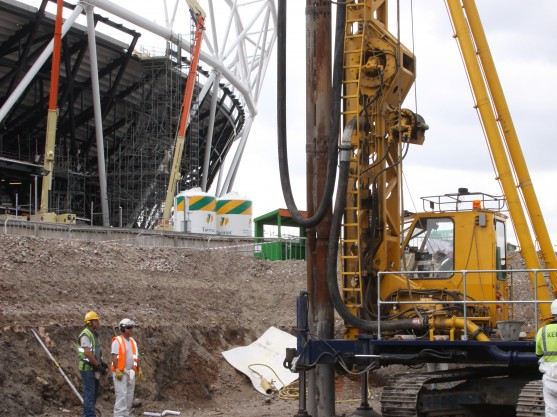 Vibro concrete columns at the Olympic Stadium