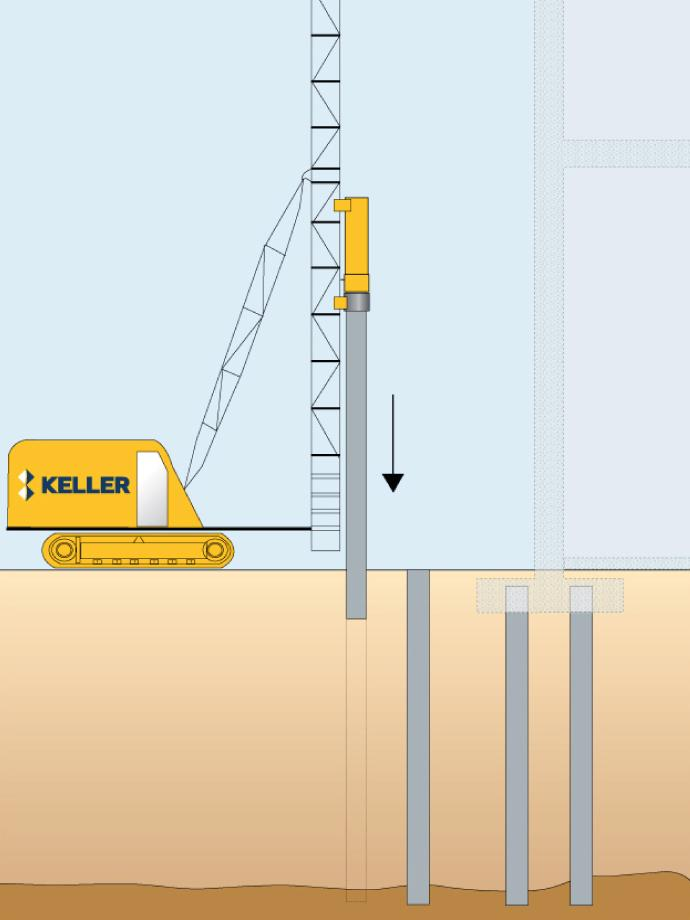 Driven precast piles | Keller UK